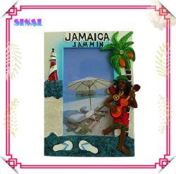 Jamaica Loja, Polyresin Rasta Photo Frame com Lighthouse