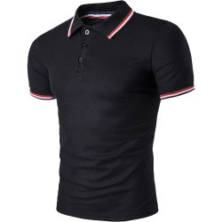 قميص بولو بأكمام قصيرة مع قميص بولو بأكمام قصيرة مع ياقة من الموضة للرجال