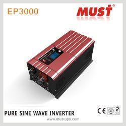 Moet 12 Volt gelijkstroom aan 220 Omschakelaar van de Macht van de Golf 2.5kw van de Sinus van de Volt 50Hz de Zuivere