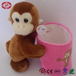Container van het Potlood van de Omhelzing van het Stuk speelgoed van Monky de Bruine Roze voor Jonge geitjes