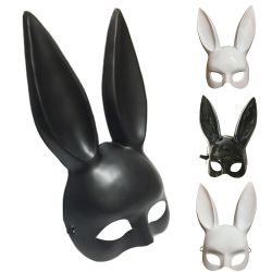 Het Konijn van de Maskerade van de partij maskeert de Sexy Decoratie van Halloween van het Masker 2018 van het Kostuum van de Partij van Carnaval Halloween van de Oren van het Konijntje Lange Zwarte Witte