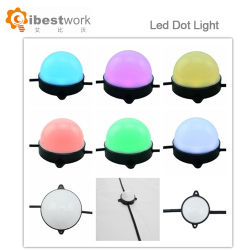 Indicatori luminosi chiari neri del PUNTINO LED del partito 50mm RGB per le barre ed i randelli