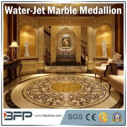 Le Médaillon de sculpture sur pierre de marbre naturel par Waterjet pour l'hôtel Couloir couloir