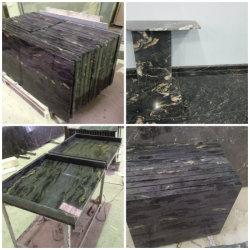 Commerce de gros en titane noir cosmique/Galaxy/béton de cuisine en granit/Formica/bloc de matériau de boucher les comptoirs de salle de bains