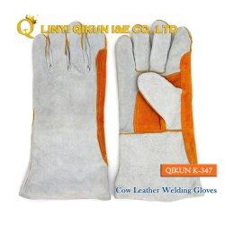 K-347 полностью из кожи крупного рогатого скота рабочей безопасности труда защиты промышленной сварки перчатки