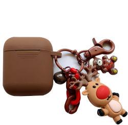 Airpods 헤드폰 상자 승진 3D 만화 크리스마스 이어폰