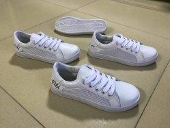 Frauen-Einspritzung PU-Turnschuhe schnüren sich oben Segeltuch-beiläufige Schuhe Py180609-70