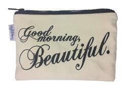 Lienzo de algodón personalizadas de viajes Bolsa de cosméticos bolsa de maquillaje maquillaje Estuche