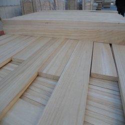 Madera de álamo sólida Chapa de madera laminada para construcción