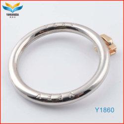Les couleurs Pantone placage Cercle en alliage de zinc anneau pour Hangbag Cas (logo personnalisé Y1860)