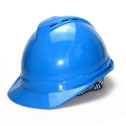 La couleur bleue v Type Disque casque de sécurité pour la construction