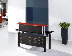 Table de réception en verre 2019 Réception Compteur Compteur Table Comptoir caissier de bureau Mobilier de bureau moderne nouveau design de mode compteur de verre 2019