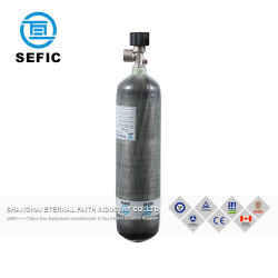 Enveloppé de carbone vérin à gaz composites en fibre de verre 3L
