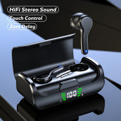 iPhoneのヘッドホーンのためのK28接触Tws Bluetoothのヘッドセットのイヤホーンのヘッドセットのイヤホーンは無線Earbudsのマイクロフォンのヘッドセットのヘッドホーンの自動電話をかけられた耳Earbudsを卸し売りする