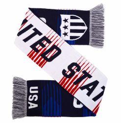 FUSSBALL USA-Ventilator-Schaldoppelseitiger Knit-Fußball-Schal der Sedex Revisions-100% Acryl
