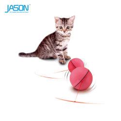 フラッシュ対話型猫レーザーのおもちゃとの魔法LEDの球のスクローリング