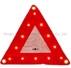 Светодиодный индикатор треугольника многофункциональный портативный треугольник красная сигнальная лампа гибкие платы трафика трафик аксессуары крюк кольцо безопасности в чрезвычайных ситуациях