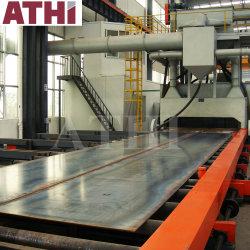 Automatischer Rollen-Förderanlagen-Typ Schuss-Strahlen und Spritzlackierverfahren-Konservierung-Zeile System für Stahlplatte