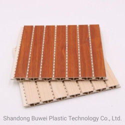 210 mm de fibra de bambú y madera perforadas integrado Ligero WPC Wal panel acústico como placa de pared para interiores