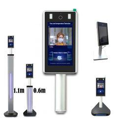 7 Zoll-nicht Kontakt-intelligente Infrarotgesichts-Anerkennungs-Temperatur-Befund-Kamera für Schule-Bank-Flughafen-öffentlichen Transport