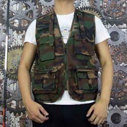 Diseño de carga personalizados anorak Multi bolsillos Chaleco Ropa de trabajo para hombres