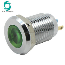 3V 6V 12V 24V 220V винта Подсоедините красный желтый синий светодиодный индикатор металла с плоским экраном 12мм водонепроницаемый индикатор сигнала