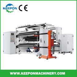 Adhesivo de alta calidad rebobinadora cortadora longitudinal de la etiqueta