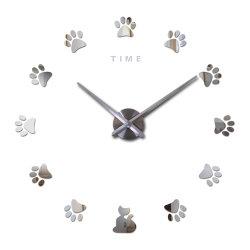 Aves Digital árabe decoración adhesivos de espejo de pared Reloj de pared grande y moderno