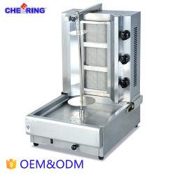 Acero inoxidable 3-Cabeza Kebab la máquina para la barbacoa de gas
