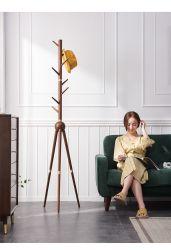 Combinar a madeira maciça e agregado de latão Single-Pole Árvore Fortune cabide simples