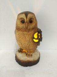 Owls солнечной энергии на нераскорчеванных почвах, Statuary, декоративное искусство животных, управление/передний двор/задний двор / внутри или снаружи