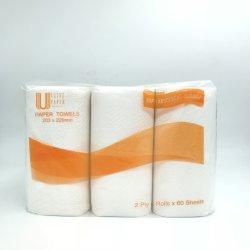 Haute Cuisine de luxe joliment absorbant gaufré serviette de papier rouleau