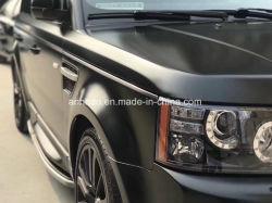 Автомобили и мотоциклы с помощью черного цвета металлик матовый хром Wrap виниловая пленка для упаковки