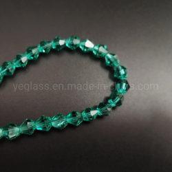 Bicone cordones sueltos de vidrio al por mayor de abalorios de colores personalizados