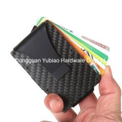 El Titular de Tarjeta de Crédito de fibra de carbono dinero Metal Clip monedero
