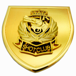BSCI fait en usine personnalisée voiture Badge en métal décoration Roman personnels