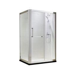 Construções prefabricadas de vidro temperado de toda a unidade de banho de design com chuveiro