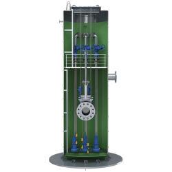 Regenwasser-anhebendes System mit Verunreinigungs-integrierter Glasstahlpumpstation
