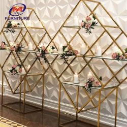 Cremagliera di visualizzazione del vino/fiore del metallo dell'acciaio inossidabile della decorazione di evento di cerimonia nuziale