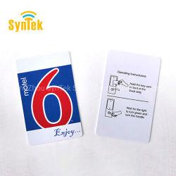 بطاقة مفتاح فندق PVC RFID مخصصة للتحكم في الوصول بسرعة 13.56 ميجا هرتز MIFARE 1K/4K