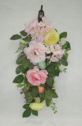 Fleur artificielle plante avec de faux oeufs décoration murale pour Pâques