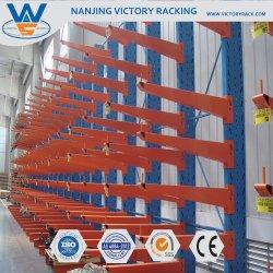 Utilisation facile des racks de cantilever avec capacité de charge à usage intensif de rayonnages cantilever
