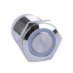 Sur le commutateur à bouton-poussoir arrêt bague LED rouge pour 16mm