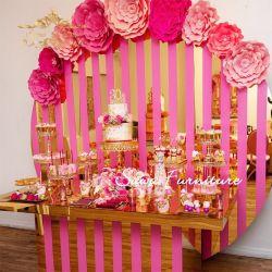 LED 아트 아이언 대형 꽃 이벤트 장식 두 개의 링 결혼 무대 배경