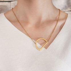 26 Lettres anglaises Necklace ornements personnalisé de Bijoux en acier inoxydable
