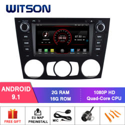 Processeurs quatre coeurs Witson Android 9.0 DVD de voiture GPS pour la FPEV90/E91/E92/E93, série 3 Air-Con (2005-2012) Manuel de la vidéo HD 1080p