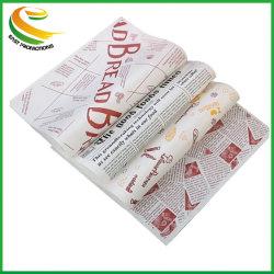 Preiswertes aufbereitetes Eco Zoll gedrucktes Firmenzeichen-Geschenk-fettdichtes Fleisch-Burger-Feinkostgeschäft-Nahrungsmittelverpackungs-Papier