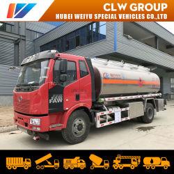 Chengli FAW camión cisterna de combustible en 4X2 6 ruedas a 15,000 litros 15000 L 15m3 de gasolina del depósito de gasolina de camiones de entrega de aleación de aluminio