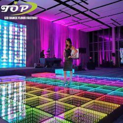 Discoteca portátil de bricolaje de las luces de DJ iluminado LED Infinity de baile en 3D Los paneles del piso en venta