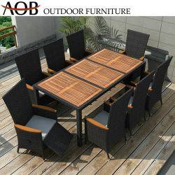 8 plazas chino Venta caliente al aire libre de aluminio Muebles de jardín silla y mesa de comedor